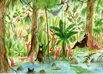 osos y conejos en jungla IV