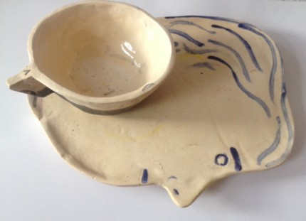 face plate with cup